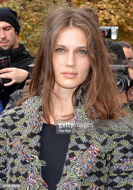 Marine Vatch attends the Chanel show as part of the Paris Fashion Week Womenswear Spring/Summer 2016 on October 6 2015 in Paris France
