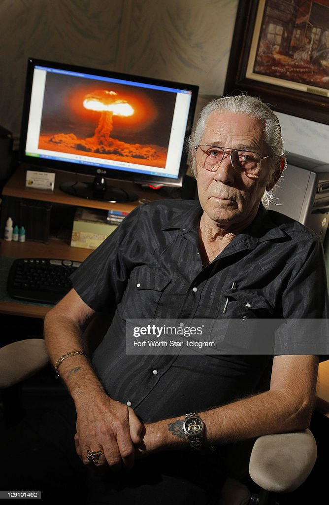 Marine veteran James D. Tyler witnessed an atmospheric atomic bomb test in Nevada on July 5, 1957, but he receives no benefits despite his exposure to the blast and radiation. Tyler of Burleson, Texas, is seen on Wednesday, September 28, 2011.
