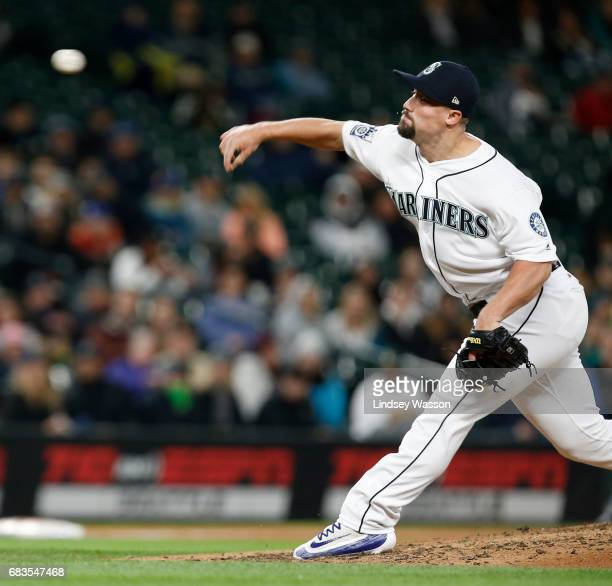 Mariners pitcher Dan Altavilla pitches in the seventh inning at Safeco Field on May 15 2017 in Seattle Washington