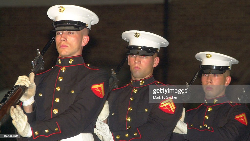 Marines in the historic Marine Corp Parade Honoring the Gold Star Wives of America.