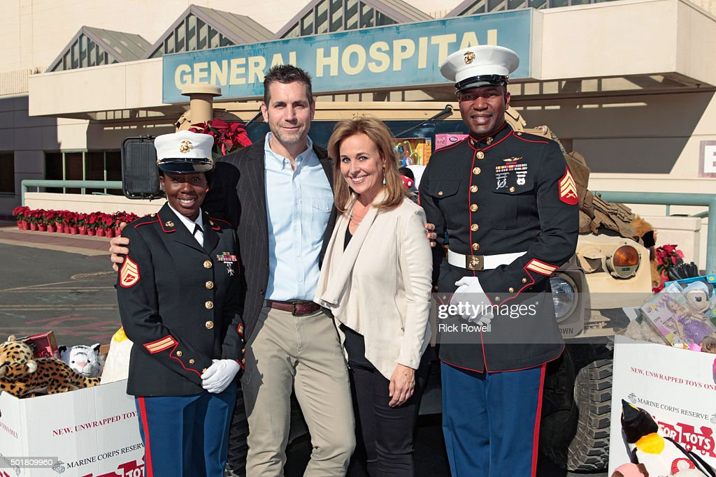 Hospital marines toys for tots visit the set of general hospital on