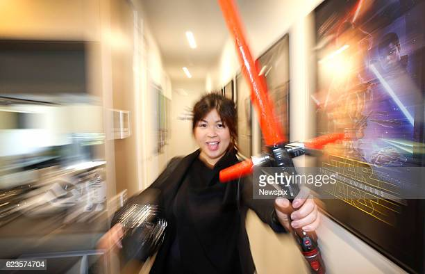 MELBOURNE VIC Marini Tungka shows off her 'Star Wars' themed AirBNB apartment in Melbourne Victoria The apartment is full of memorabilia posters and...