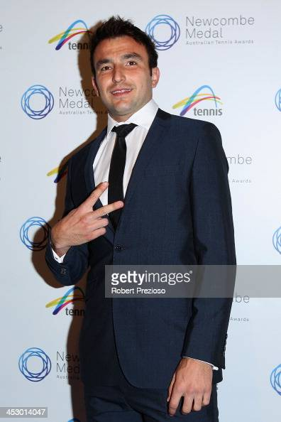 Marinko Matosevic arrives prior to the 2013 Newcombe Medal at Crown Palladium on December 2 2013 in Melbourne Australia