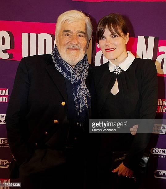 Mario Adorf and Fritzi Haberlandt attend the Premiere of 'Die Libelle Und Das Nashorn' at Lichtburg on December 4 2012 in Essen Germany