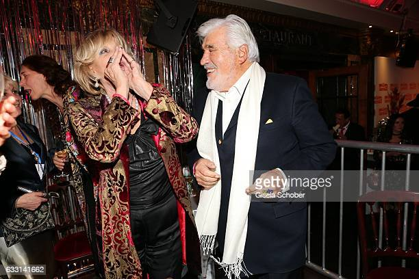 Mario Adorf and his wife Monique Adorf dance during the Lambertz Monday Night 2017 at Alter Wartesaal on January 30 2017 in Cologne Germany