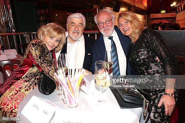 Mario Adorf and his wife Monique Adorf Dieter Hallervorden and his girlfriend Christiane Zander during the Lambertz Monday Night 2017 at Alter...