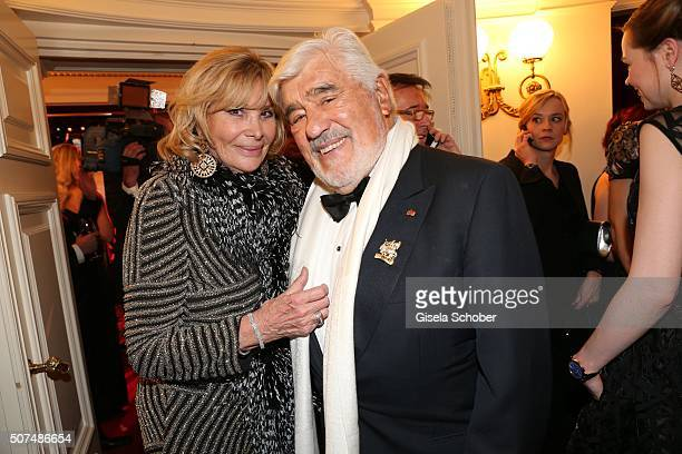 Mario Adorf and his wife Monique Adorf during the Semper Opera Ball 2016 at Semperoper on January 29 2016 in Dresden Germany
