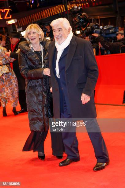 Mario Adorf and his wife Monique Faye attend the 'Django' premiere during the 67th Berlinale International Film Festival Berlin at Berlinale Palace...