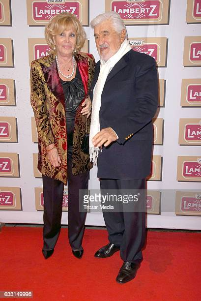 Mario Adorf and his wife Monique Faye attend the 'Lambertz Monday Schoko Night 2017' on January 30 2017 in Cologne Germany