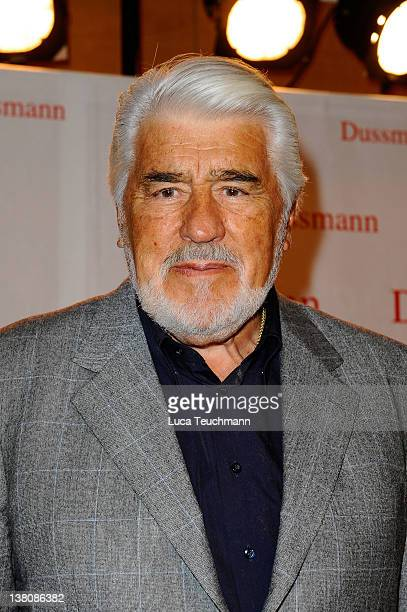 Mario Adorf attends the book signing 'Viele Gesichter viele Talente' at the Dussmann store on February 2 2012 in Berlin Germany