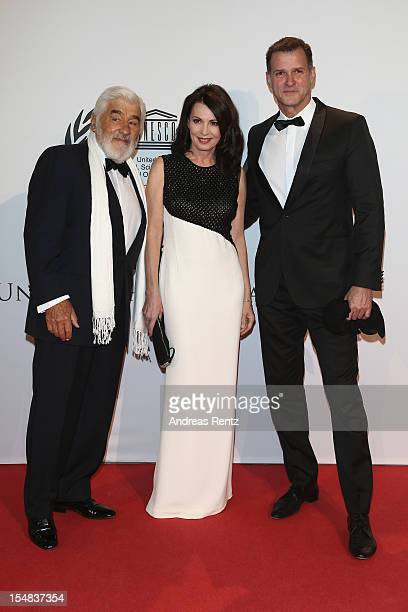 Mario Adorf Iris Berben and Heiko Kiesow attend the 21st UNESCO Charity Gala 2012 on October 27 2012 in Dusseldorf Germany