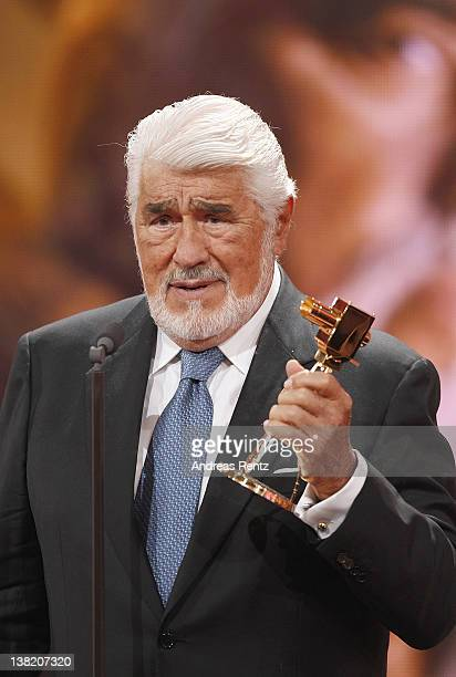 Mario Adorf receives the Lifetime Achievement Award National at the 47th Golden Camera Awards at the Axel Springer Haus on February 4 2012 in Berlin...