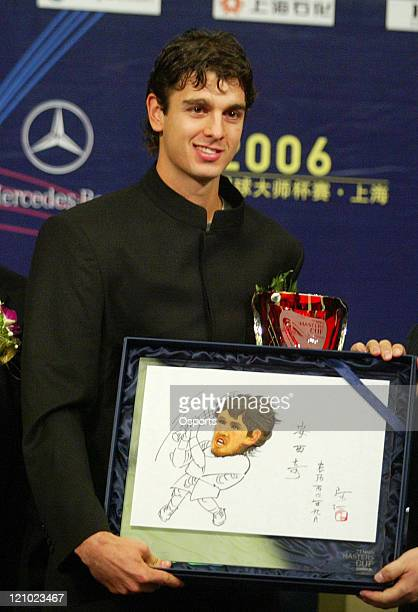 Mario Ancic during a press conference prior to the 2006 Masters Tennis Cup Shanghai in Shanghai China on November 11 2006