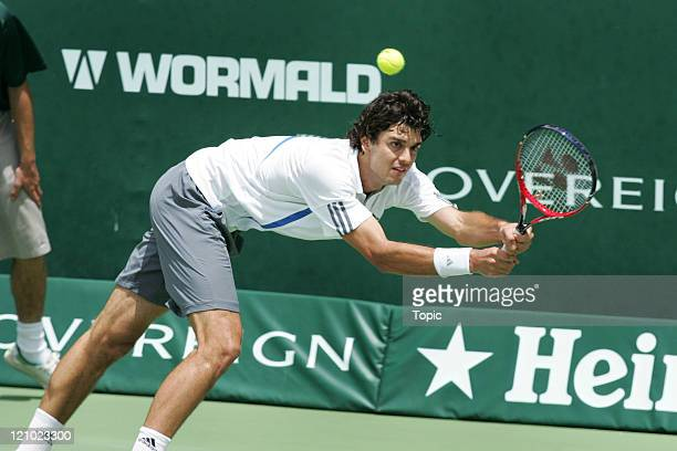 Mario Ancic during the 2007 Heineken Open Day 4 on January 11 2007 at ASB Tennis Center in Auckland New Zealand