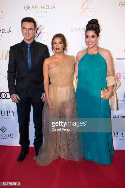 Mario Arques Eva Longoria and Inmaculada Almeida attend the Global Gift Gala 2017 red carpet at Gran Melia Don pepe Resort on July 16 2017 in...