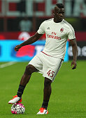 Mario Balotelli of AC Milan in action before the Serie A match between AC Milan and Empoli FC at Stadio Giuseppe Meazza on August 29 2015 in Milan...