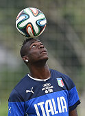 Mario Balotelli of Italy during a training session on June 7 2014 in Rio de Janeiro Brazil