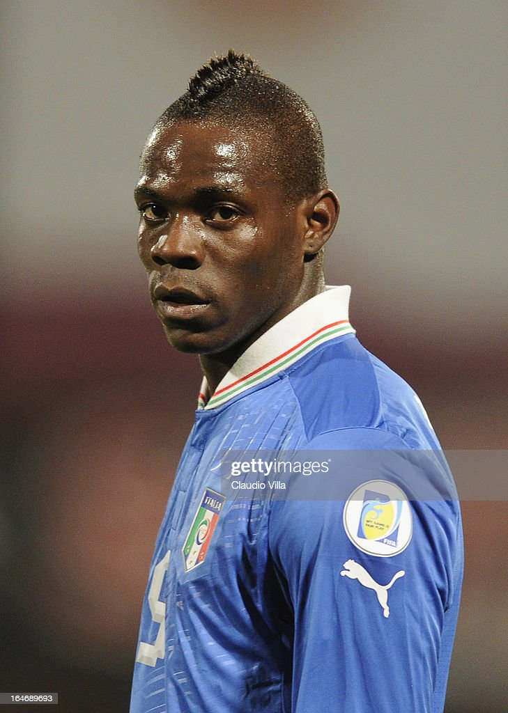 Mario Balotelli of Italy during the FIFA 2014 World Cup qualifier match between Malta and Italy at Ta Qali Stadium on March 26, 2013 in Malta, Malta.