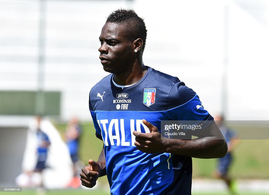 Mario Balotelli of Italy during training session on June 22 2014 in Natal Brazil