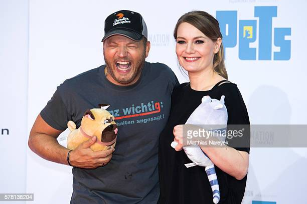 Mario Barth and Martina Hill attend the premiere of the film 'PETS' at CineStar on July 20 2016 in Berlin Germany