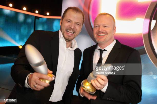 Mario Barth and Stefan Raab attend the 17th Annual of the German Comedy Awards at Coloneum on October 15 2013 in Cologne Germany