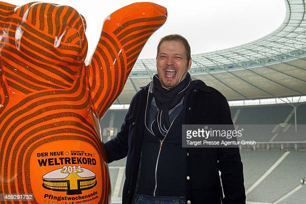 Mario Barth attends the Mario Barth photocall at Olympiastadion on November 20 2014 in Berlin Germany