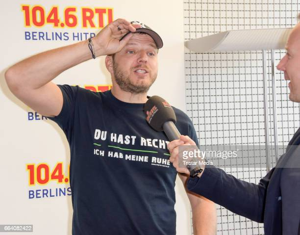 Mario Barth host his first morning show at RTL radio Berlin on April 3 2017 in Berlin Germany