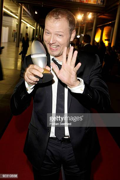 Mario Barth poses with the award at the German Comedy Award 2009 at the Coloneum on October 20 2009 in Cologne Germany