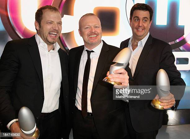 Mario Barth Stefan Raab and Bastian Pastewka attend the 17th Annual of the German Comedy Awards at Coloneum on October 15 2013 in Cologne Germany