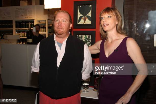 Mario Batali and Tanya Steel attend Epicurious 15th Anniversary Dinner at Eataly on September 29 2010 in New York