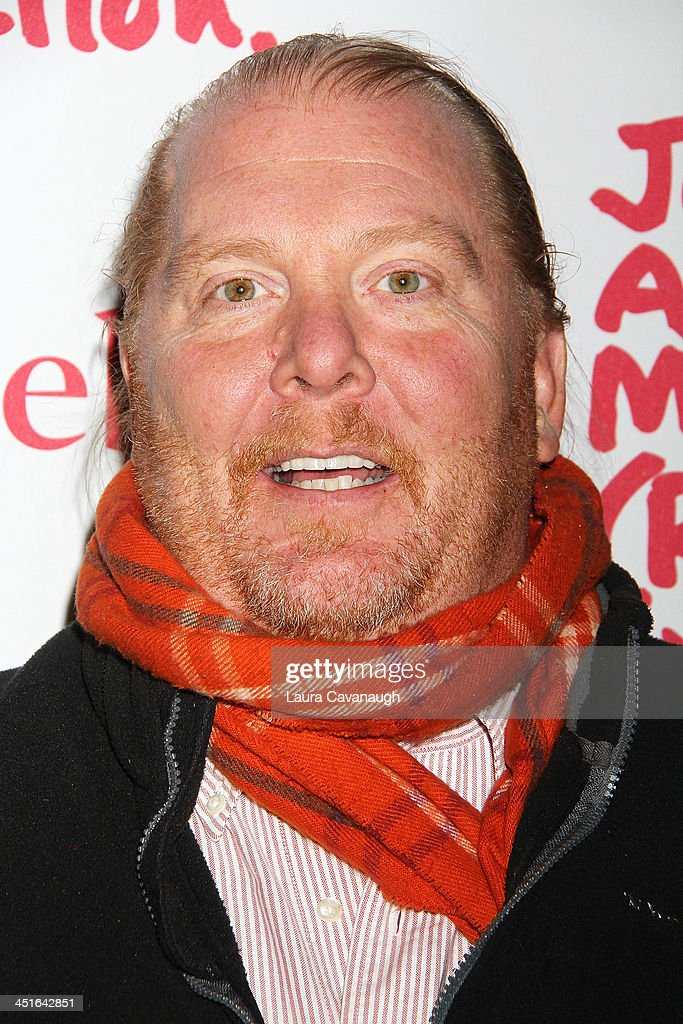 Mario Batali attends 2013 (RED) Auction Celebrating Masterworks Of Design and Innovation on November 23, 2013 in New York City.