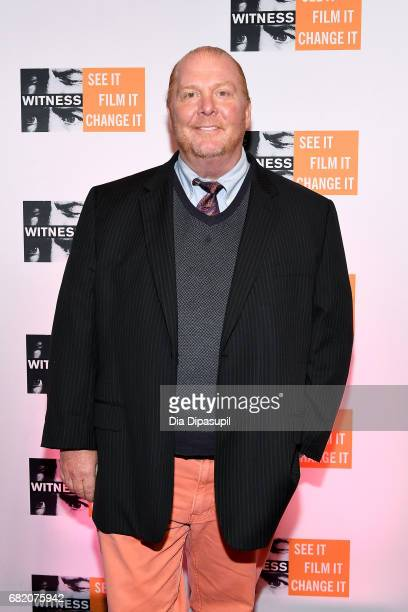 Mario Batali attends the WITNESS 25th Anniversary Gala at The Edison Ballroom on May 11 2017 in New York City