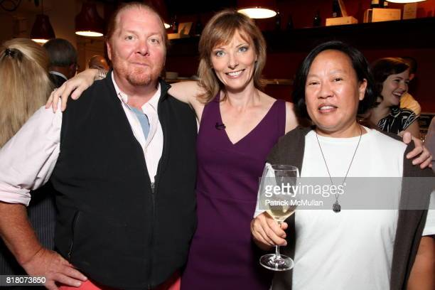 Mario Batali Tanya Steel and Anita Lo attend Epicurious 15th Anniversary Dinner at Eataly on September 29 2010 in New York City