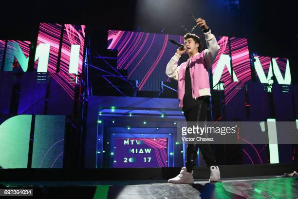 Mario Bautista speaks on stage during the MTV MIAW Awards 2017 at Palacio de Los Deportes on June 3 2017 in Mexico City Mexico