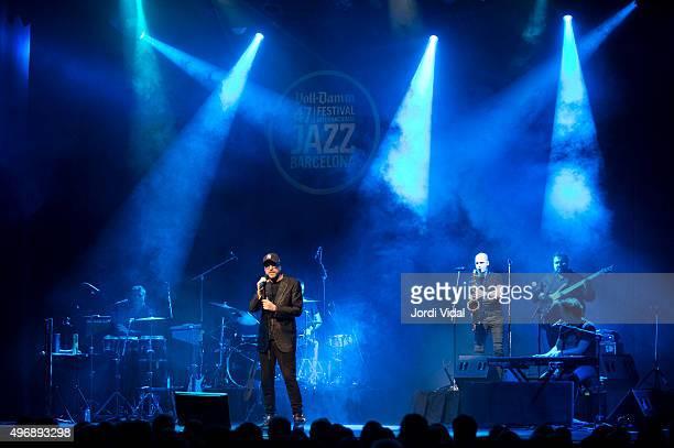 Mario Biondi performs on stage during Festival Internacional de Jazz de Barcelona at Barts on November 12 2015 in Barcelona Spain