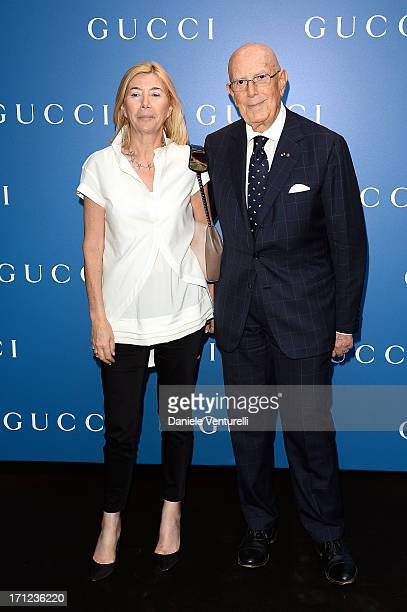 Mario Boselli and guest attend Gucci Men's Flagship Store Opening and Launch of Gucci Made to Measure Capsule Collection 'Lapo's Wardrobe' on June 23...