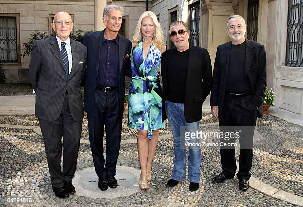 Mario Boselli Massimiliano Finazzer Flory Valeria Mazza Roberto Cavalli Marco Glaviano attend the Palazzo Morando Fashion and Design autumn programme...