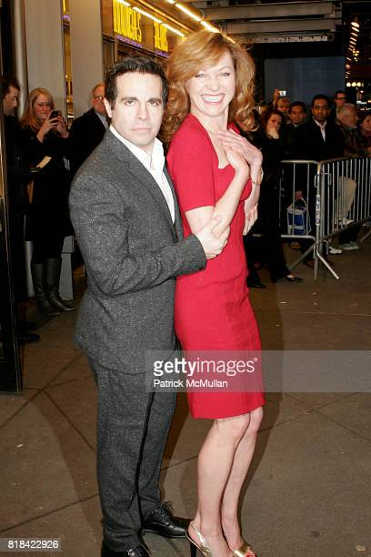Mario Cantone and Julie White attend Opening Night of Present Laughter at American Airlines Theater on January 21 2010 in New York City
