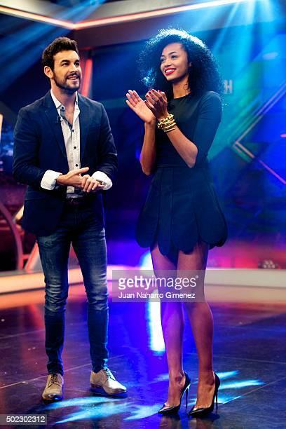 Mario Casas and Berta Vazquez attend 'El Hormiguero' Tv show at Vertice Studio on December 22 2015 in Madrid Spain