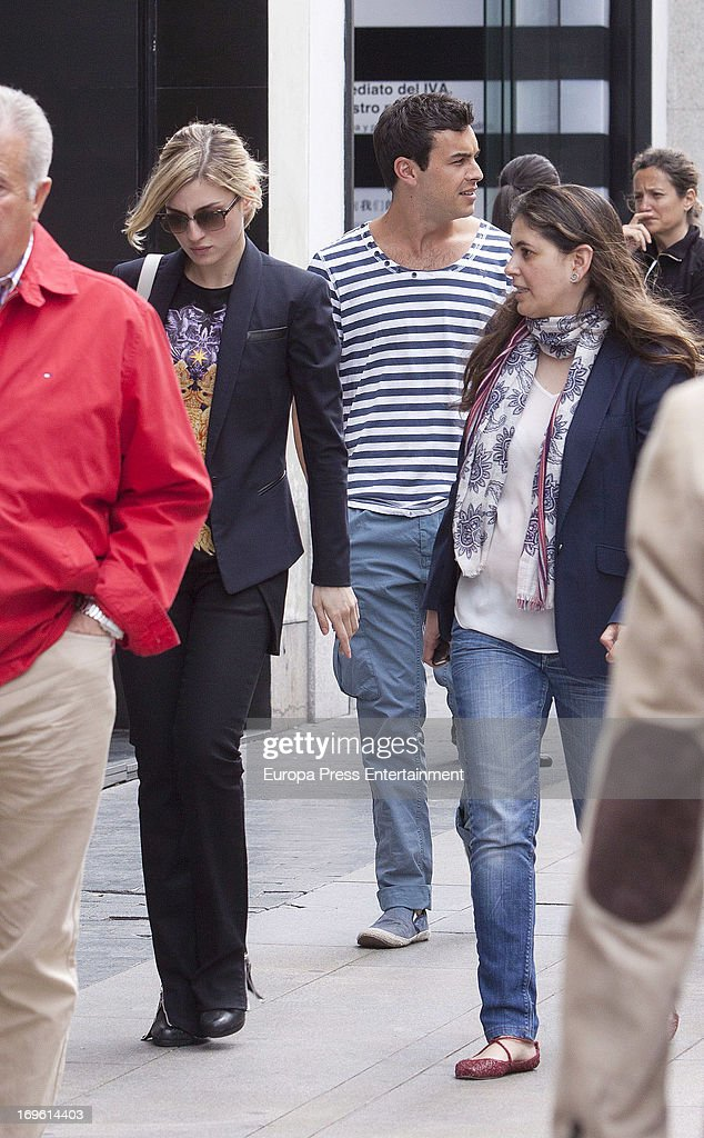 Mario Casas and Maria Valverde (L) are seen on May 28, 2013 in Madrid, Spain.