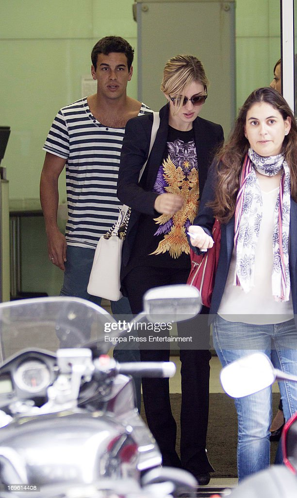 Mario Casas and Maria Valverde (C) are seen on May 28, 2013 in Madrid, Spain.