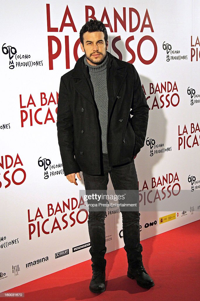 <a gi-track='captionPersonalityLinkClicked' href=/galleries/search?phrase=Mario+Casas&family=editorial&specificpeople=4617963 ng-click='$event.stopPropagation()'>Mario Casas</a> attends 'La Banda Picasso' premiere on January 24, 2013 in Madrid, Spain.