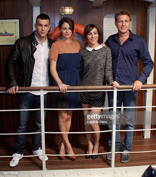 Mario Casas Blanca Suarez Irene Montala and Juanjo Artero attend 'El barco' third season presentation at Adisar studios on October 17 2012 in Madrid...
