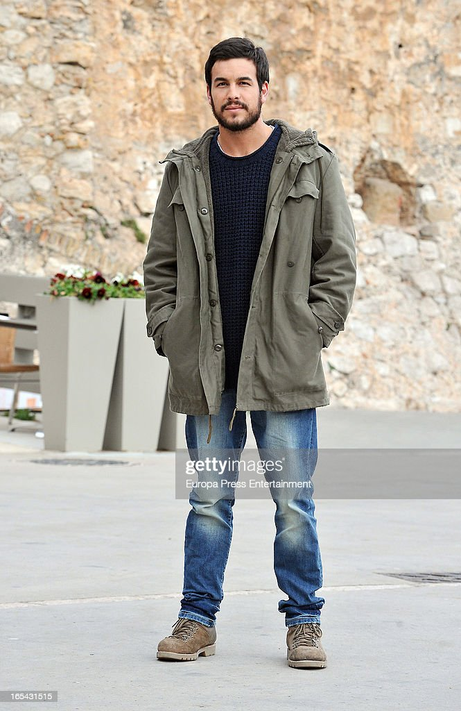 Mario Casas is seen on the set of their latest film 'Ismael' on March 25, 2013 in Barcelona, Spain.