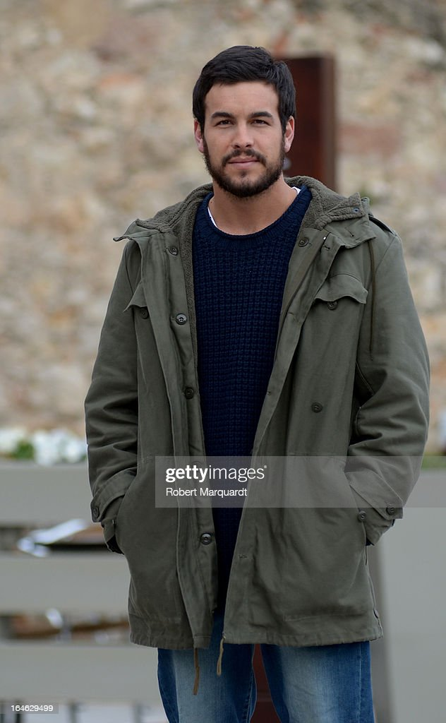 Mario Casas on the set of his latest film 'Ismael' on March 25, 2013 in Barcelona, Spain.