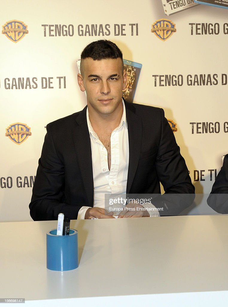 Mario Casas signs copies of dvd of his last film 'Tengo ganas de ti' at El Corte Ingles Store on November 16, 2012 in Madrid, Spain.