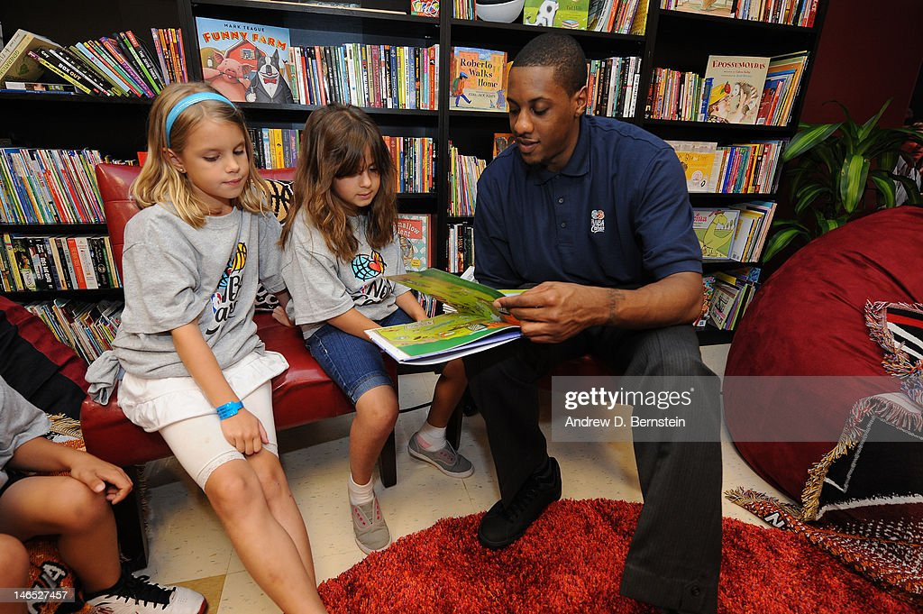 <a gi-track='captionPersonalityLinkClicked' href=/galleries/search?phrase=Mario+Chalmers&family=editorial&specificpeople=802115 ng-click='$event.stopPropagation()'>Mario Chalmers</a> of the Miami Heat attends the unveiling of the NBA Cares Learn and Play Center at the Miami Springs Community Center presented by HP and State Farm on June 18, 2012 in MIami, Florida.