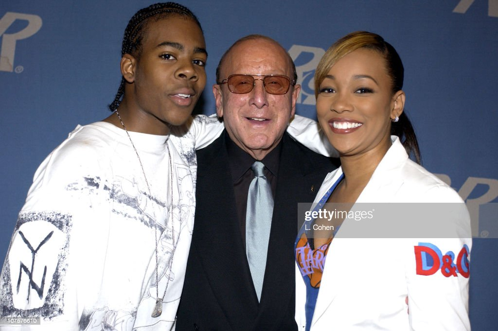 Mario Clive Davis Monica during Radio Records Convention 2002 at Beverly Hilton Hotel in Beverly Hills Ca