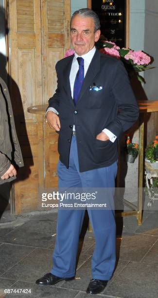 Mario Conde is seen leaving a restaurant on April 26 2017 in Madrid Spain
