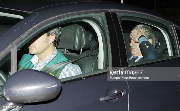 Mario Conde is taken to jail after the Spanish Civil Guard officers spent fourteen hours registering his house on April 11 2016 in Madrid Spain...